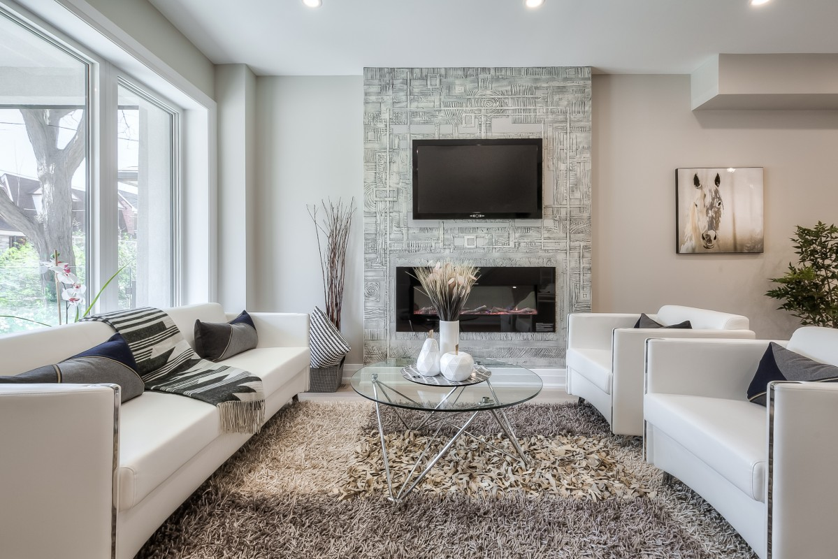 Living room staged by Gta Fine Interiors in East York