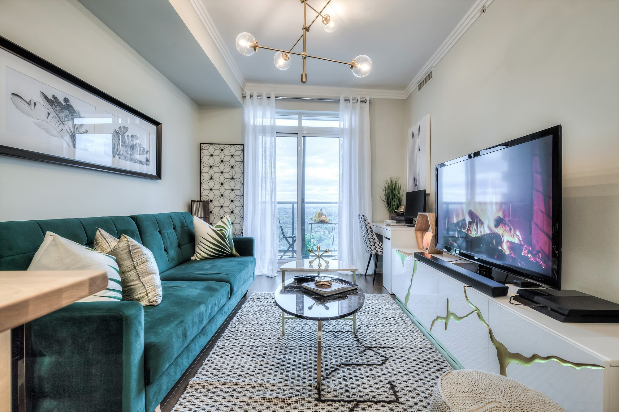 Condo living area by Gta Fine Interiors