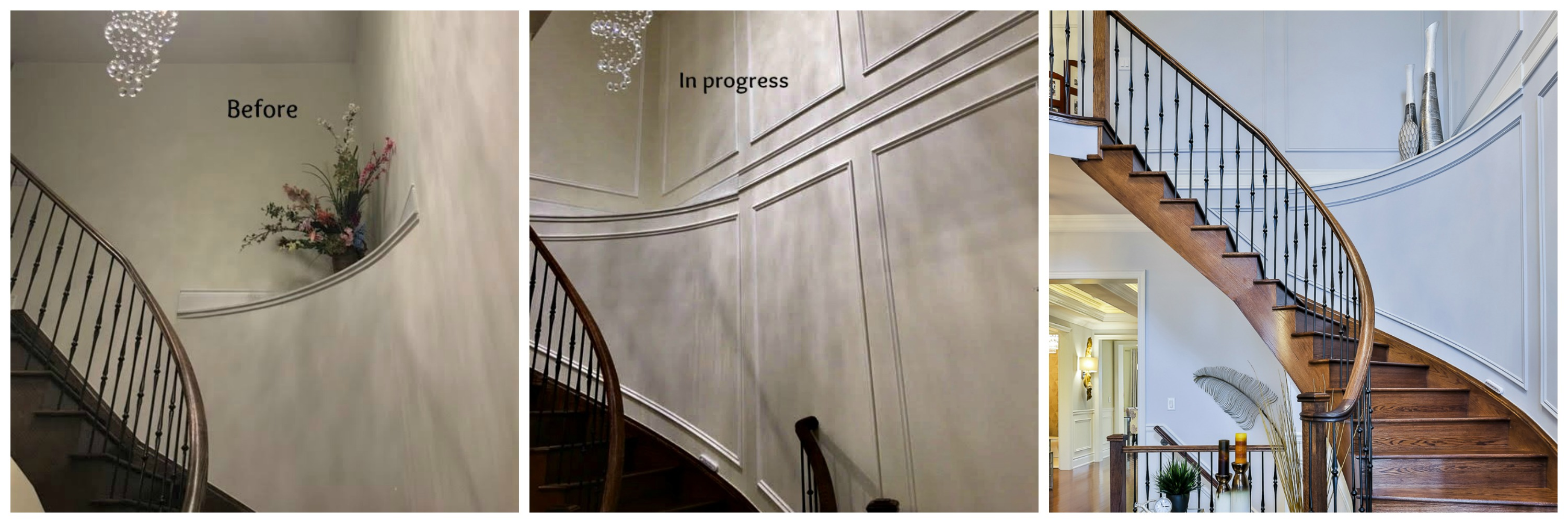 Staircase wall work