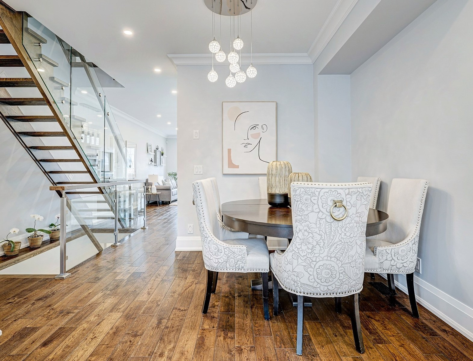 Bedford Park Ave Toronto home staging Dining Area